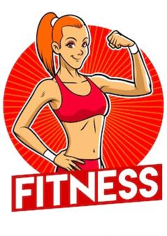 Carácter de chica gimnasio fitness mujer