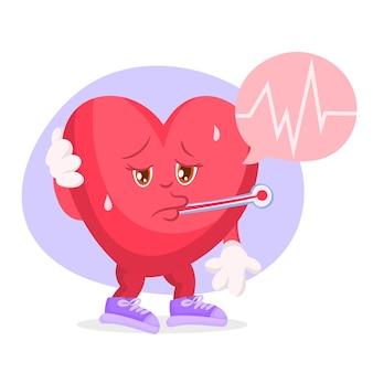 Carácter de corazón enfermo
