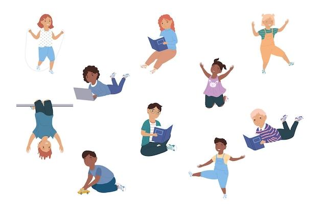 Carácter de diez niños