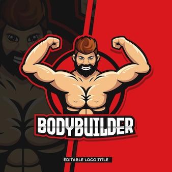 Carácter de logotipo de hombre fuerte
