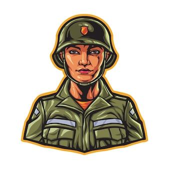 Carácter de mujer del ejército militar