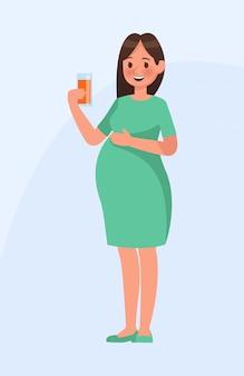 Carácter de mujer embarazada