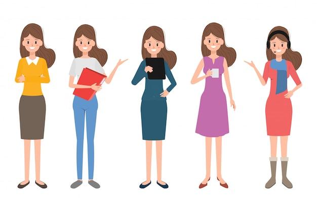 Carácter de personas de mujer en la ocupación