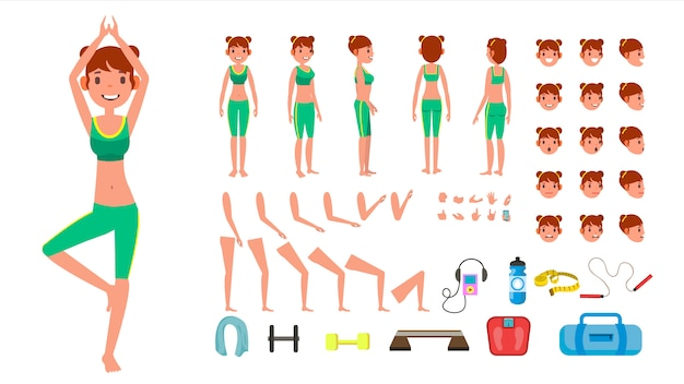 Carácter de yoga mujer.