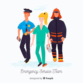 Caracteres de servicios de emergencia