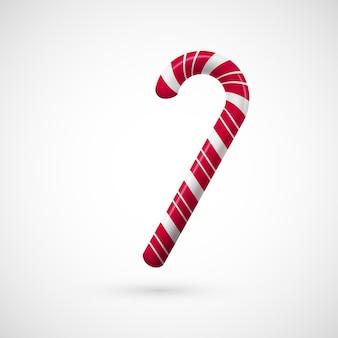 Caramelo rojo y blanco de navidad