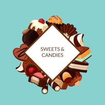 Caramelos de chocolate de dibujos animados