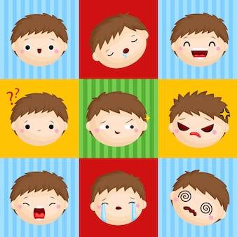 Caras de la emoción