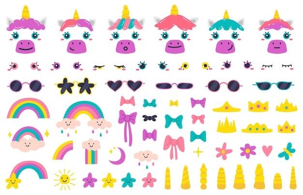 Caras de unicornio
