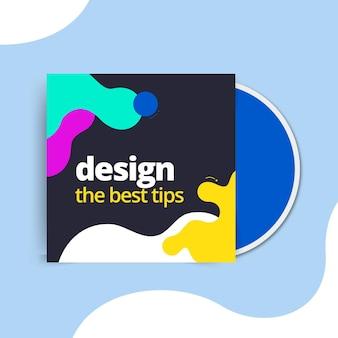Carátula cd de diseño colorido abstracto