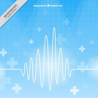 Cardiograma en un fondo azul