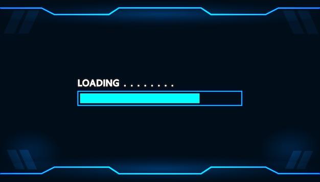 Carga del juego en el diseño de concepto de tecnología de monitor.