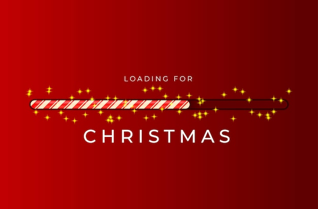Cargando barra de bastón de caramelo para navidad con destellos