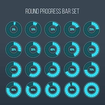 Cargando ronda de barra de círculo de progreso.
