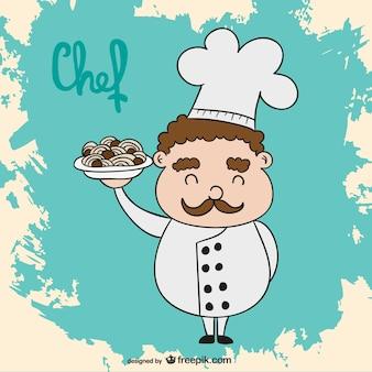 Caricatura de chef vector gratuito