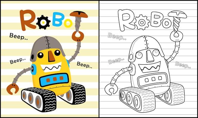 Caricatura de robot divertido
