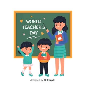 Caricatura de evento del día del maestro