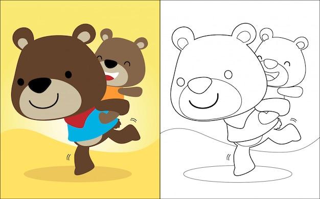 La caricatura de los hermanos osos.