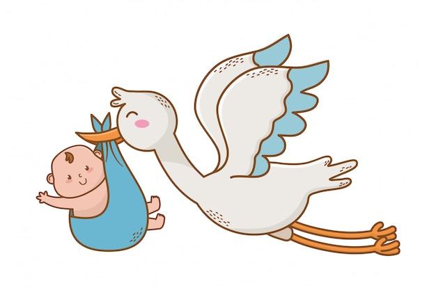 Caricatura lindo baby shower