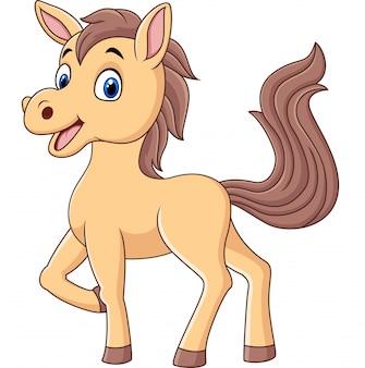 Caricatura lindo bebé pony
