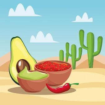Caricaturas de comida mexicana