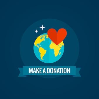 Caridad y donación.