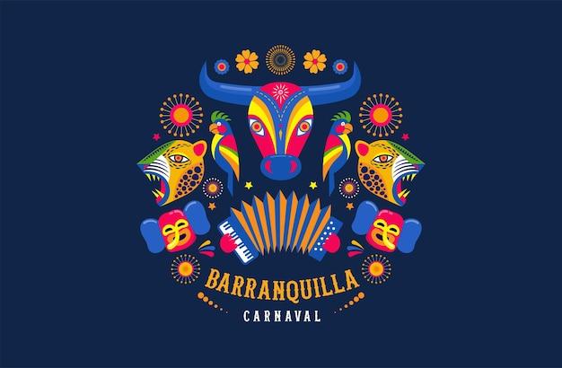 Carnaval de barranquilla, fiesta de carnaval colombiano.