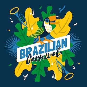 Carnaval brasileño dibujado a mano