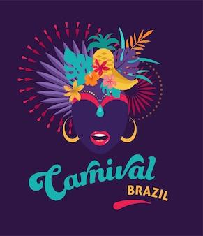 Carnaval brasileño, festival de música, mascarada