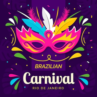 Carnaval brasileño con máscara