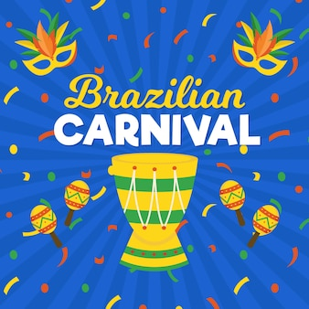 Carnaval brasileño plano