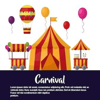 Carnaval carpa circo carpas globos