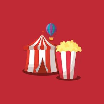 Carnaval de circo de diseño.