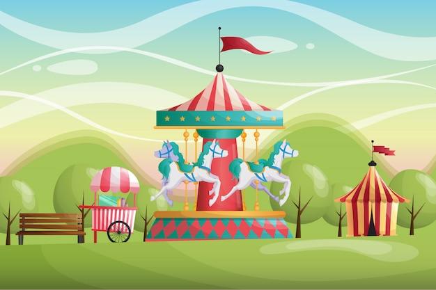 Carnaval circus carrusel parque antecedentes