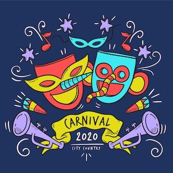 Carnaval dibujado a mano