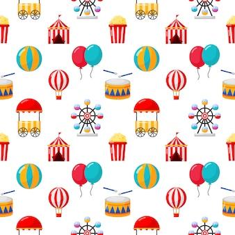 Carnaval de patrones sin fisuras aislar en blanco