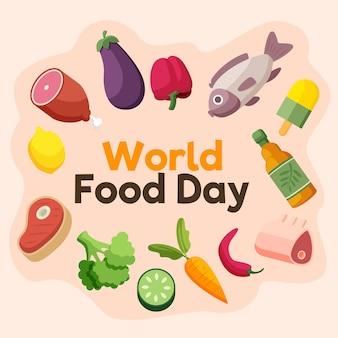 Carne y verduras día mundial de la alimentación