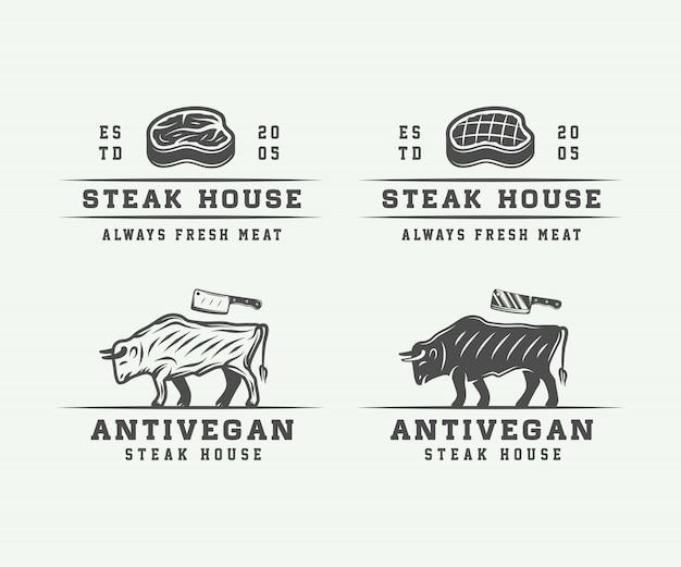 Carnicería de carnes, bistec o bbq.