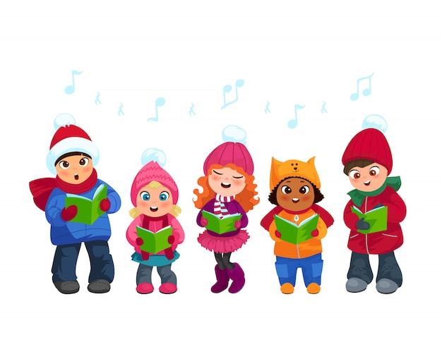 Caroling niños conjunto