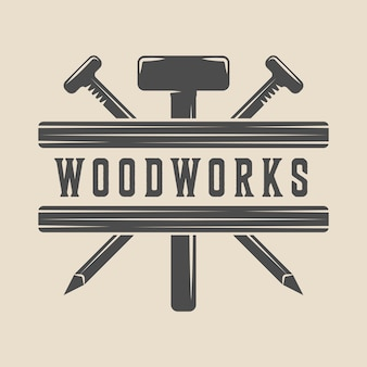 Carpintería de carpintería emblema.