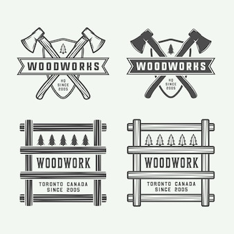 Carpintería, insignias de carpintería.