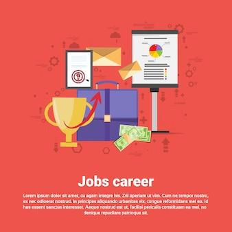 Carrera de trabajo profesión profesional web banner flat