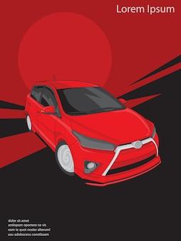 Carreras de color rojo concept car o vehículo.
