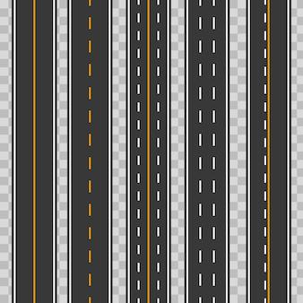Carreteras horizontales rectas sin costura, carreteras, autopistas