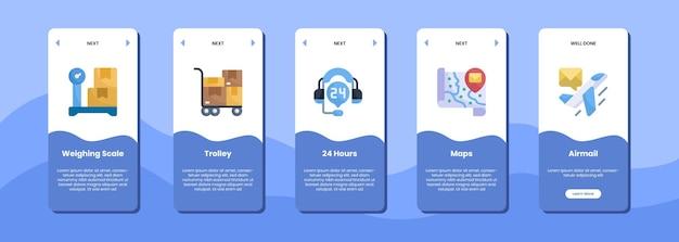 Carretilla de la báscula de la pantalla de la aplicación móvil 24 horas mapas correo aéreo