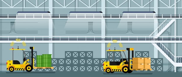 Carretilla elevadora automática de conducción de automóviles de mercancías y mercancías