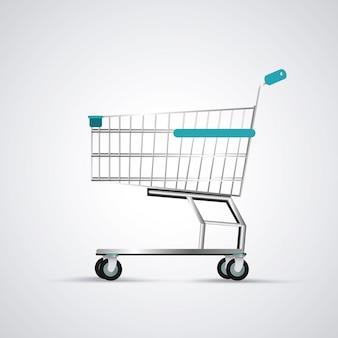 Carrito de compras. icono de comercio y tienda