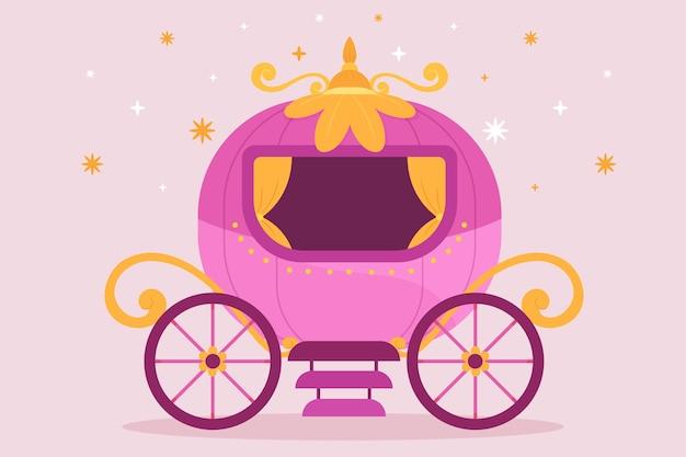Carro ilustrado de cuento de hadas
