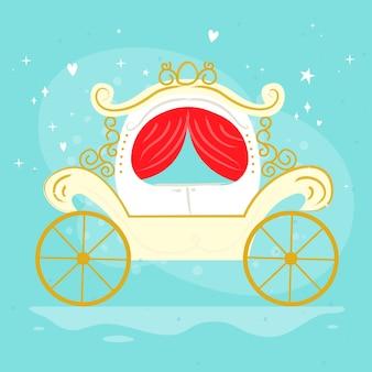 Carro mágico de cuento de hadas