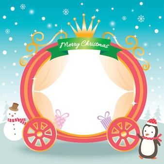 Carro de princesa de navidad